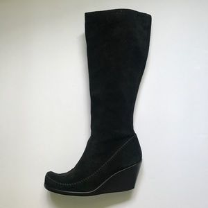 Aerosoles black knee high boots size 7
